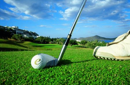 Overview of golf course named Porto Elounda Golf Club