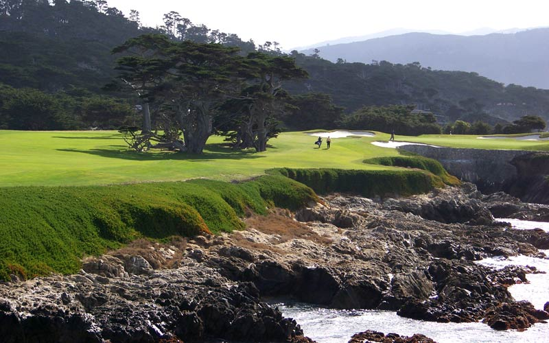 Overview of golf course named Cypress Point Club