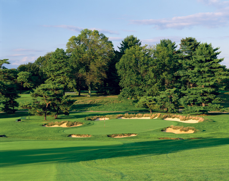 Overview of golf course named Merion Golf Club