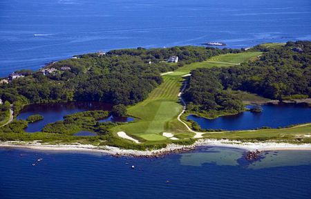 Overview of golf course named Fishers Island Club