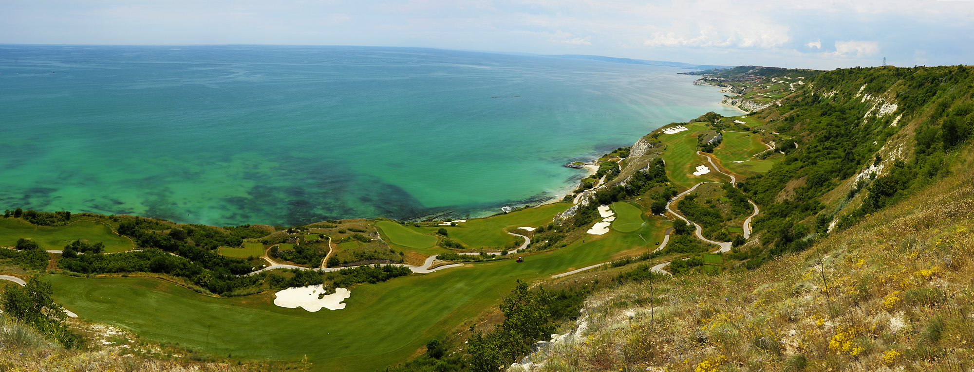 Overview of golf course named Thracian Cliffs Golf and Beach Resort