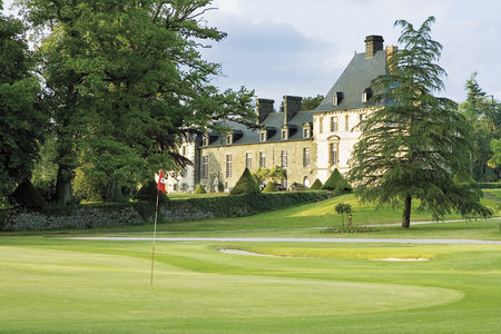 Overview of golf course named Les Ormes Domaine & Resort