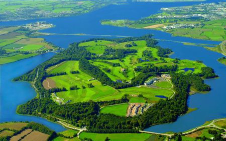 Overview of golf course named Fota Island Resort