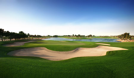 Overview of golf course named Abu Dhabi Golf Club