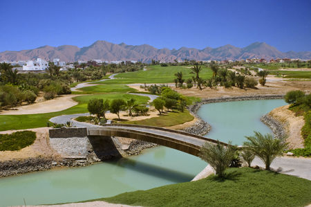 Overview of golf course named El Gouna Golf Club