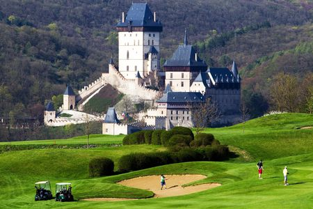 Overview of golf course named Golf Resort Karlstejn