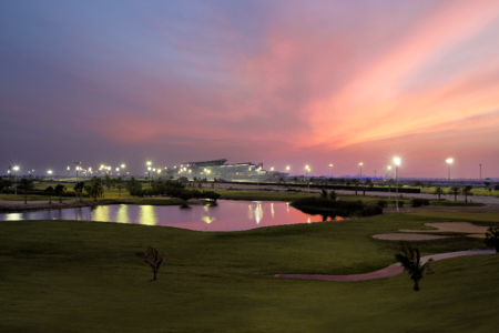Overview of golf course named The Track, Meydan Golf