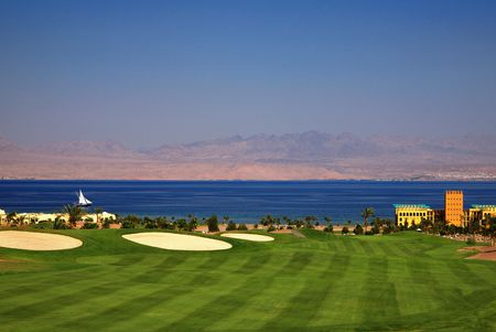 Overview of golf course named Taba Heights Golf Resort