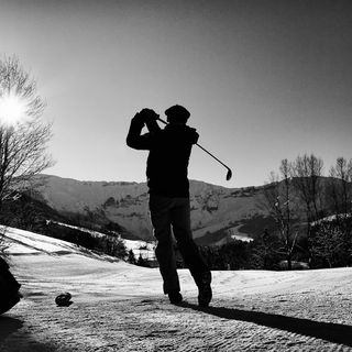 Bmw winter golf megeve picture