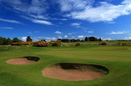 Overview of golf course named Monifieth Golf Links