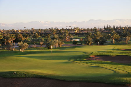Overview of golf course named Palmgolf Marrakech Palmeraie