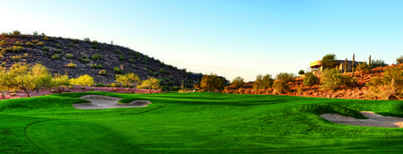 Overview of golf course named Firerock Country Club