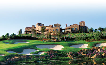 Overview of golf course named The Bridges at Rancho Santa Fe