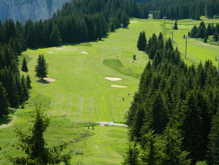 Overview of golf course named Golf Des Gets