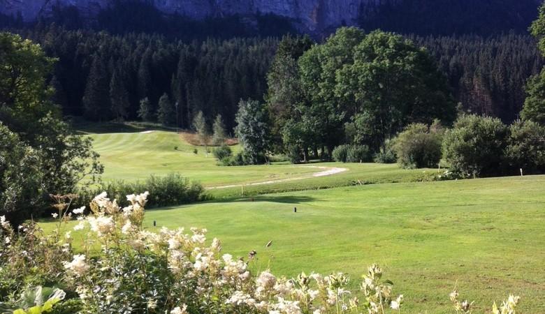 Overview of golf course named Golf de La Valserine