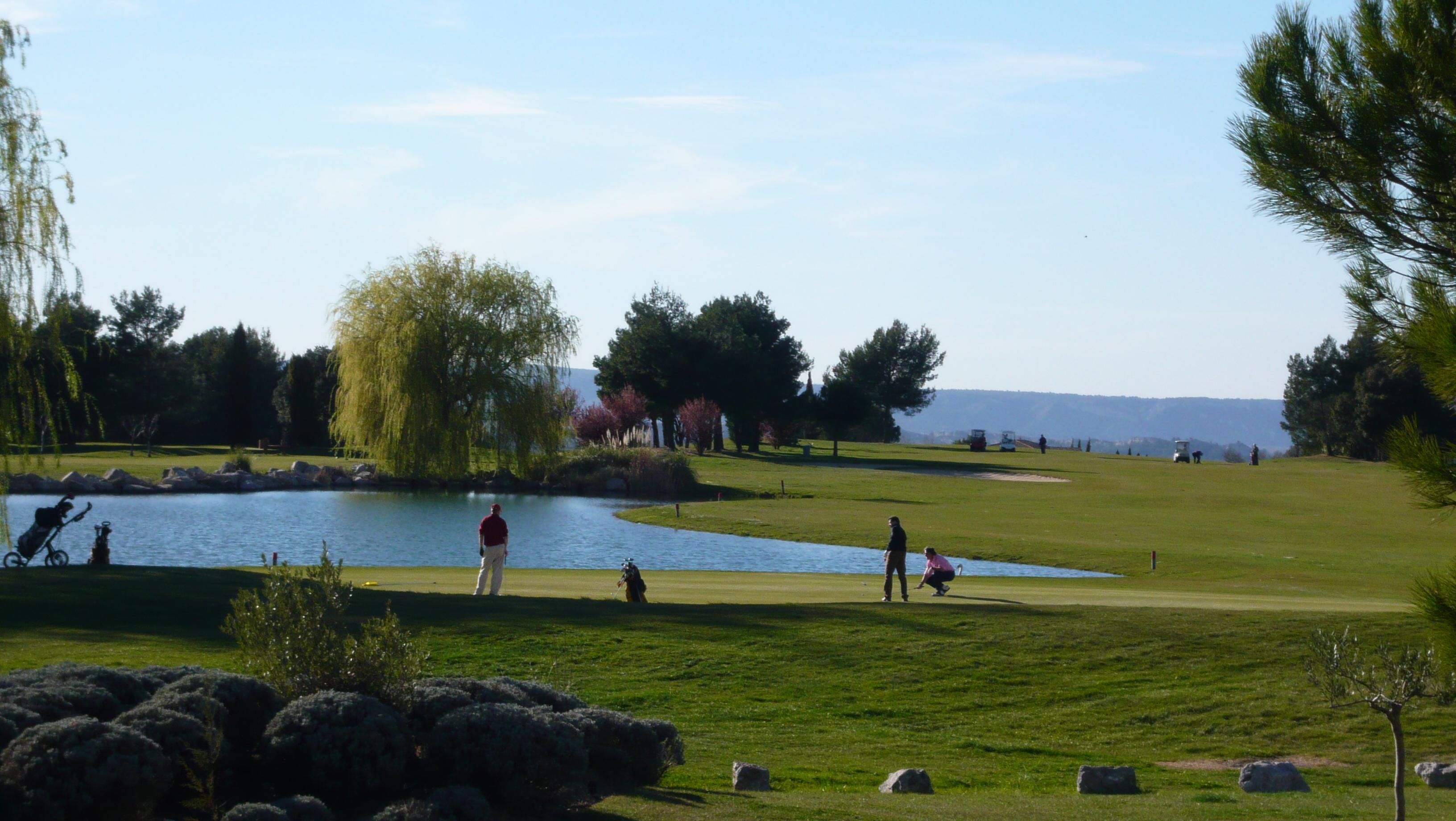 Overview of golf course named Golf de Saumane