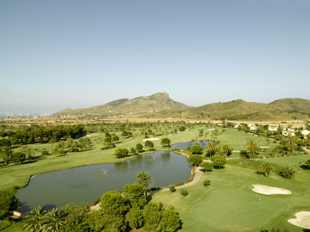 Overview of golf course named La Manga Club Resort