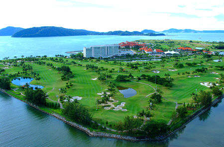 Overview of golf course named Sutera Harbour Golf Club