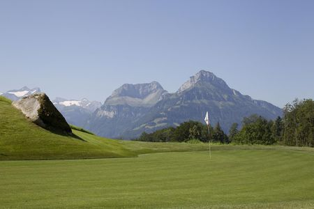 Overview of golf course named Golf Club Axenstein