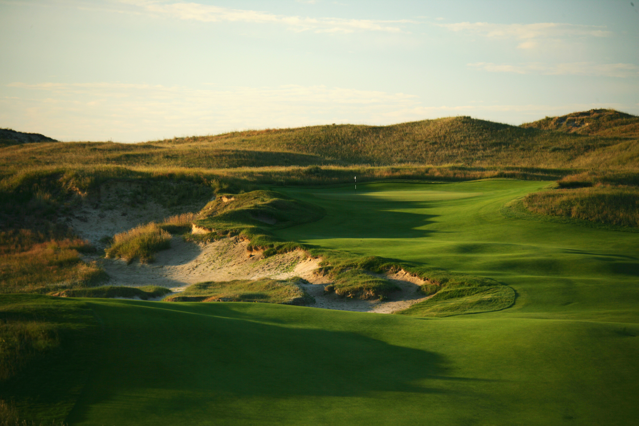 Overview of golf course named Sand Hills Golf Club