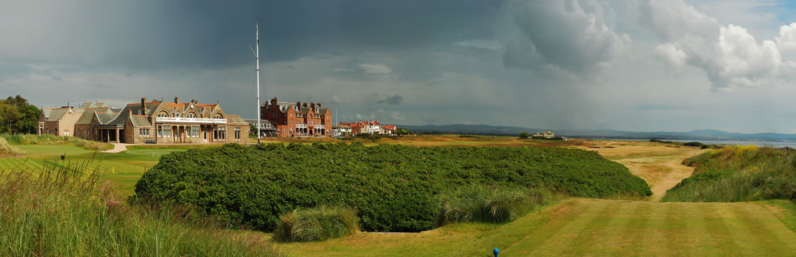 Overview of golf course named Royal Troon Golf Club