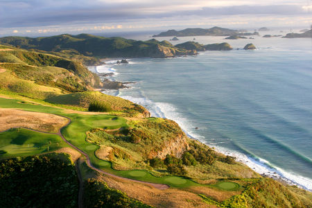 Overview of golf course named Kauri Cliffs