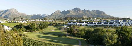 Overview of golf course named de Zalze Golf Club
