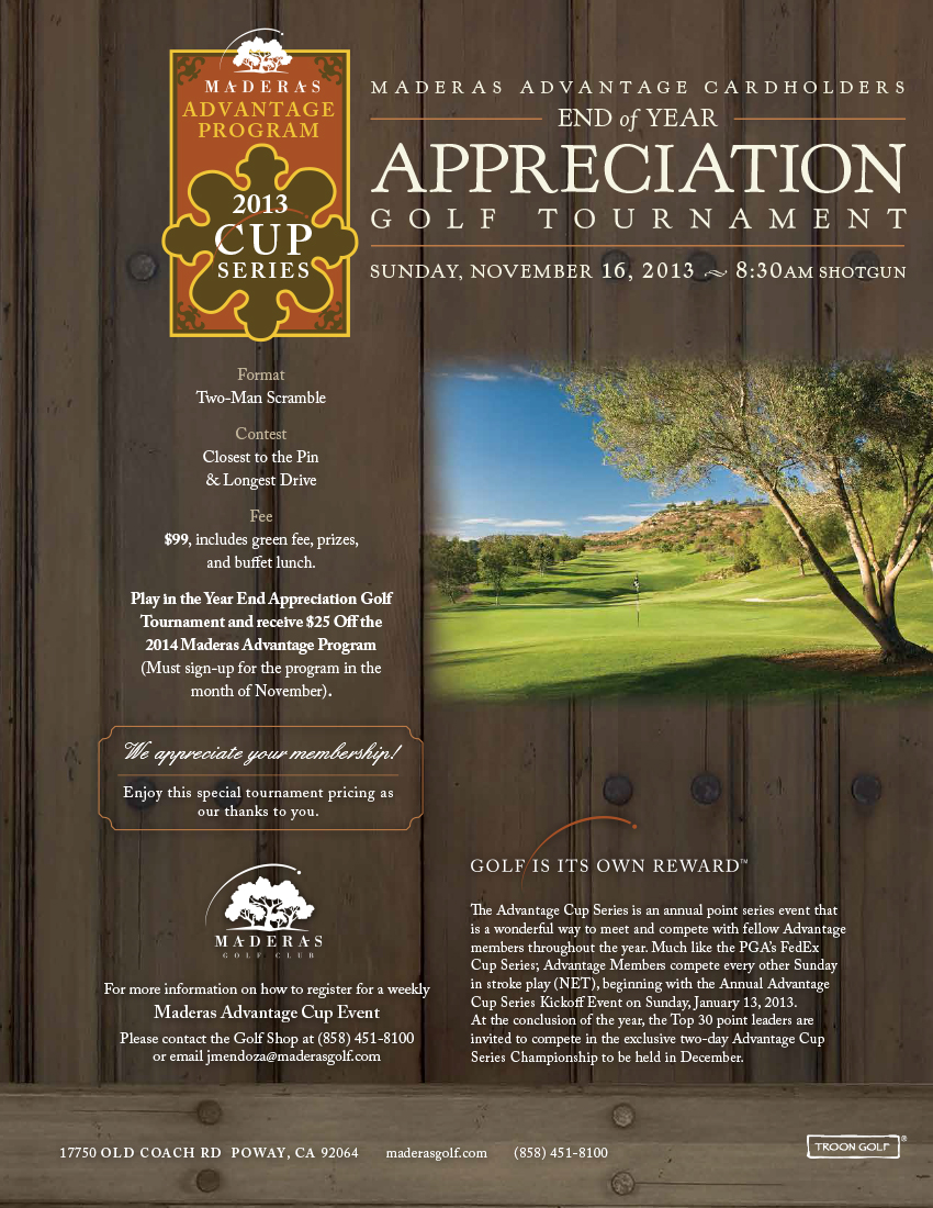 Cover of golf event named MAP - End of Year Appreciation Golf Tournament