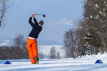 Cover of golf event named BMW Winter Golf Megève