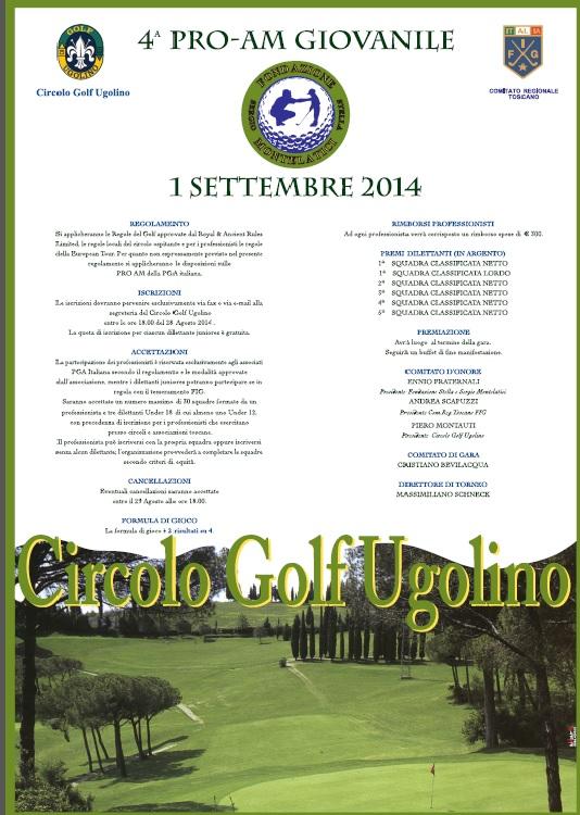Cover of golf event named Stella and Sergio Montelatici Junior Pro - Am
