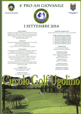Hosting golf course for the event: Stella and Sergio Montelatici Junior Pro - Am