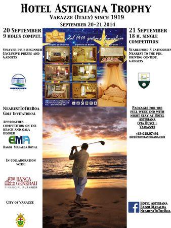 Cover of golf event named Hotel Astigiana De Charme since 1919 - Liguria (Italy) - Trophy