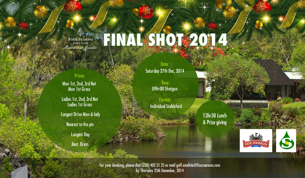 Cover of golf event named Final Shot 2014!