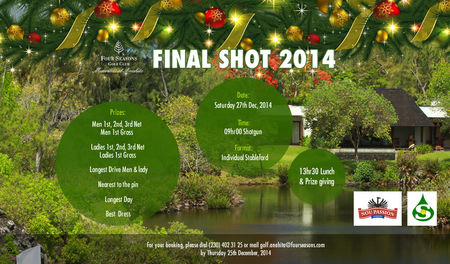 Hosting golf course for the event: Final Shot 2014!