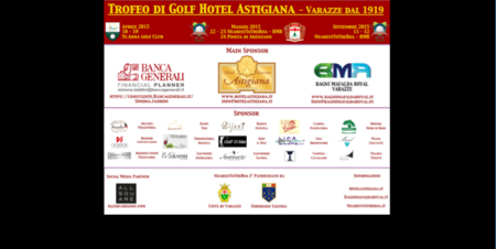 Cover of golf event named ITALY - 36 holes in front of the Sea