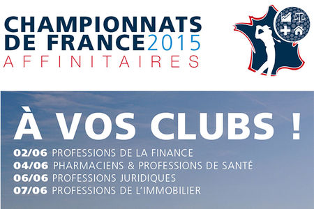 Cover of golf event named Championnats de France Affinitaires 2015