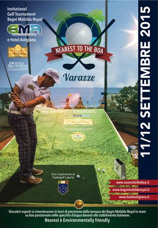 Cover of golf event named NearestToTheBoa