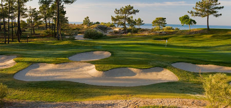 Overview of golf course named Troia Resort