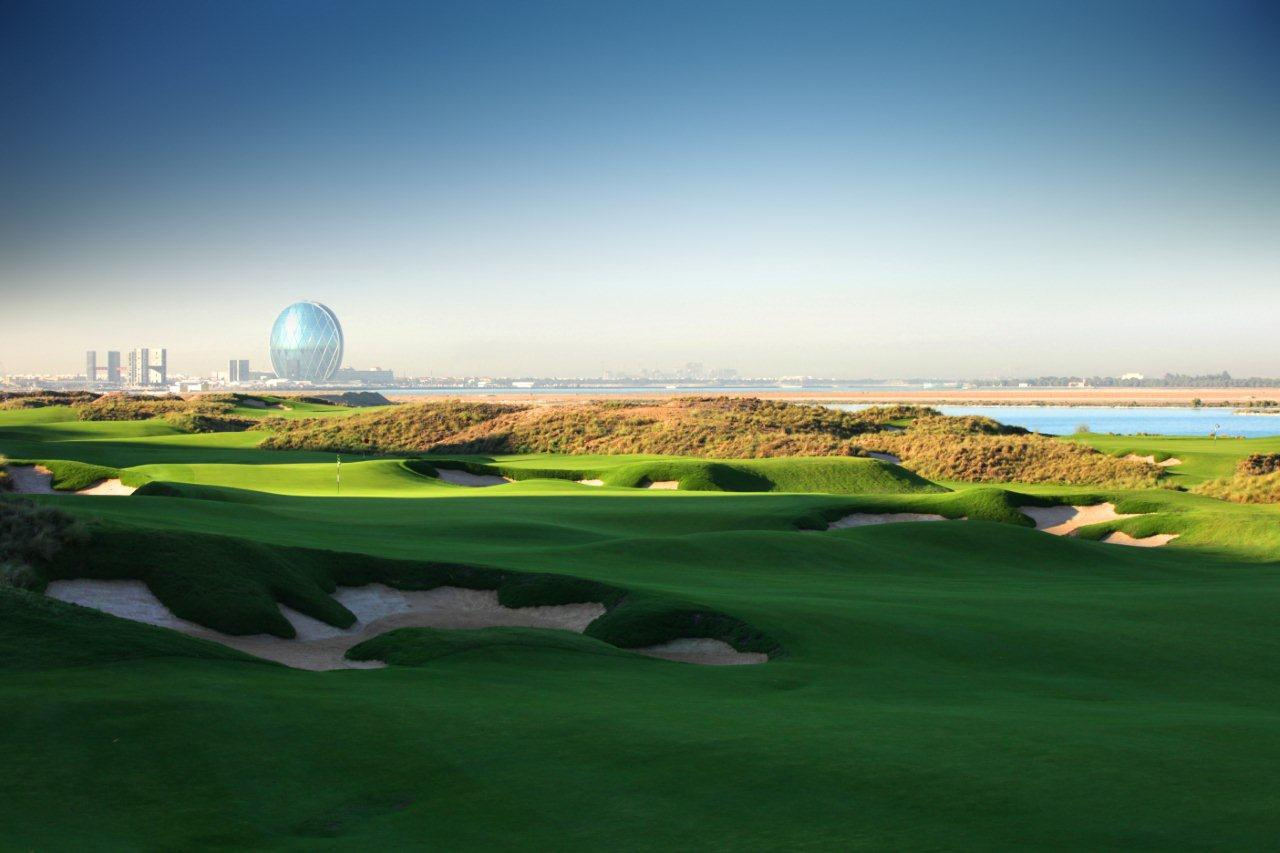 Overview of golf course named Yas Links Abu Dhabi