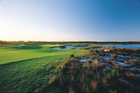 Overview of golf course named Pelican Waters Golf Club