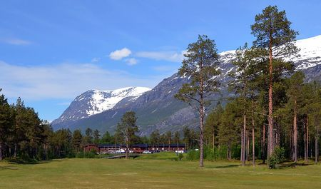 Overview of golf course named Narvik Golfklubb