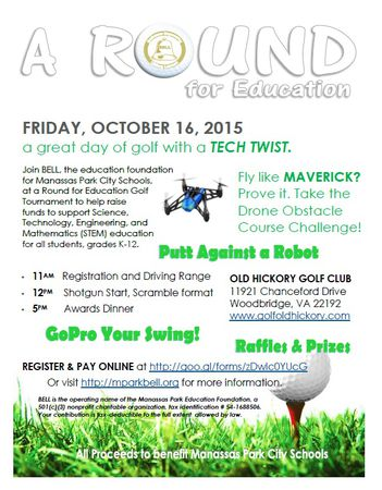 "Cover of golf event named Can You Beat a Bot? Find out at ""A Round for Education"""