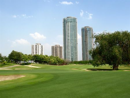 Overview of golf course named Jaypee Greens Golf Resort
