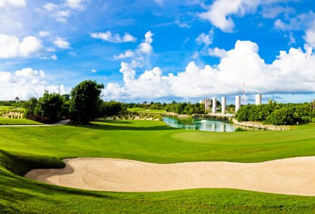 Overview of golf course named El Manglar Golf Course Riviera Maya
