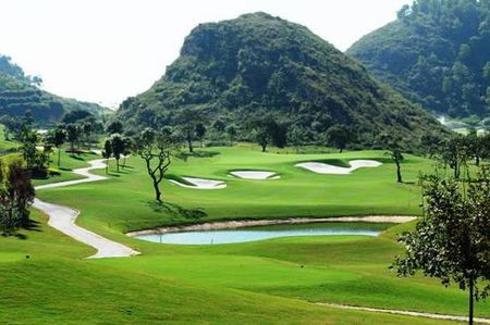 Overview of golf course named Royal Golf Club Ninh Binh
