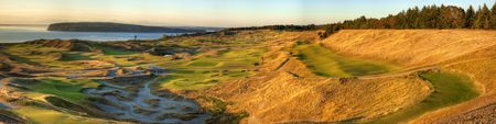 Overview of golf course named Chambers Bay Golf Course