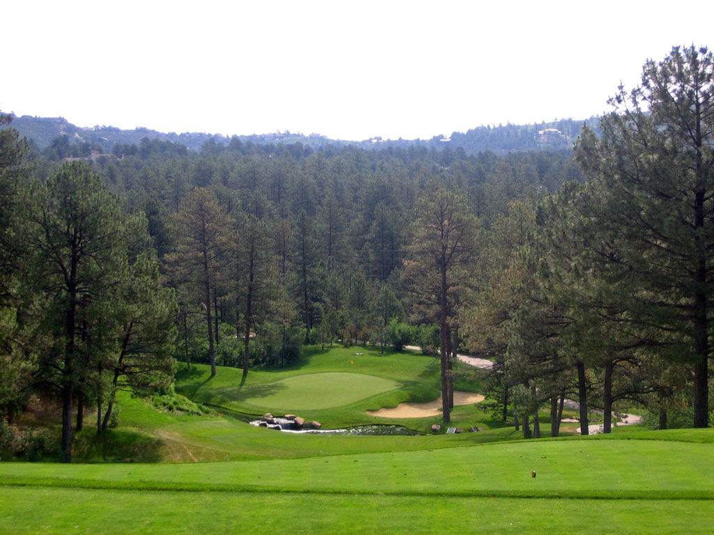 Overview of golf course named Castle Pines Golf Club