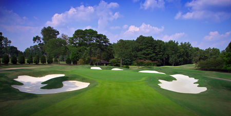 Overview of golf course named Atlanta Athletic Club