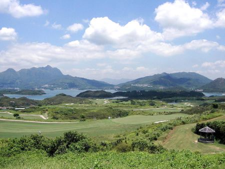 Overview of golf course named South Course at The Jockey Club's Kau Sai Chau