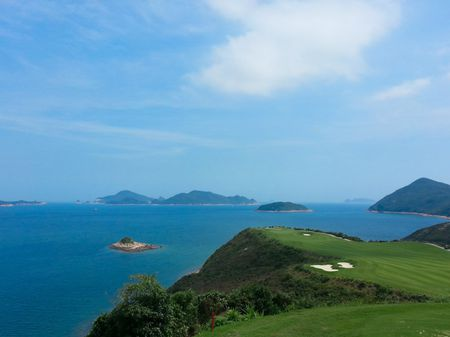 Overview of golf course named North Course at The Jockey Club's Kau Sai Chau
